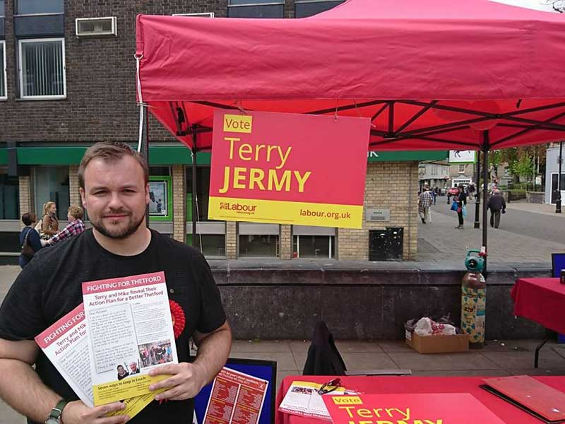 May 2021 Candidate Photos Terry Jermy in Thetford West Division