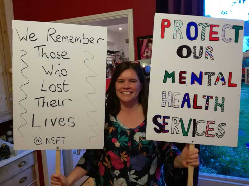 Protect Our Mental Health Service Campaign Posters