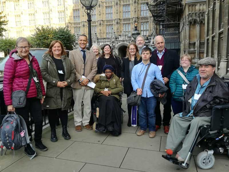 Disables Services Campaigners at Parliament London