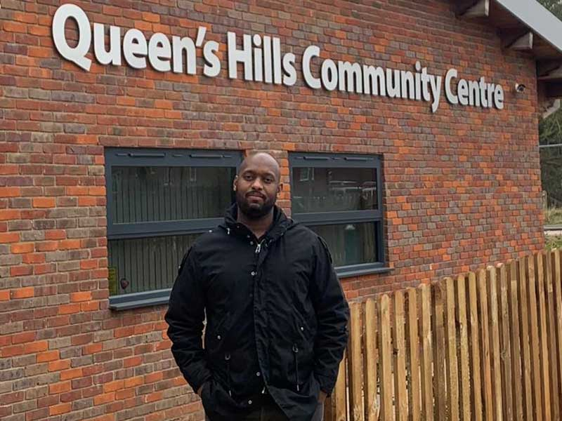 May 2021 Candidate Photos Jamal Sealy at Queen's Hills Community Centre Costessey Division