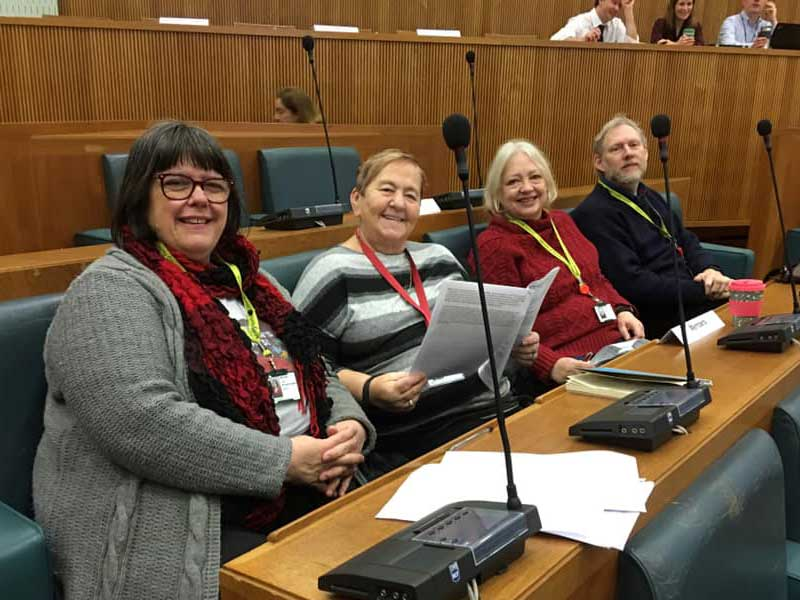 Labour Councillors in the County Hall Council Chamber