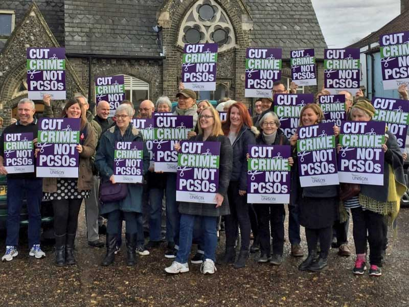 Stop PCSO Cuts Campaign in Norwich
