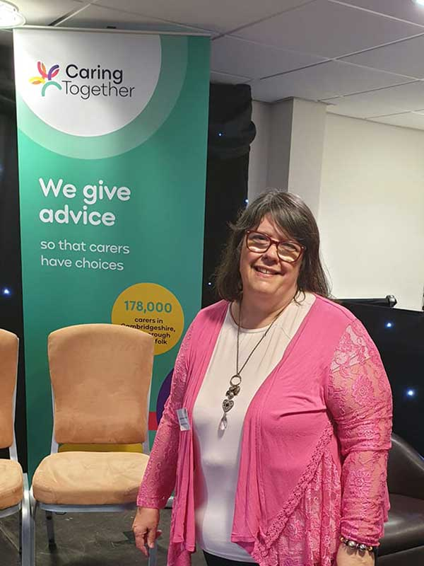 Julie Brociek-Coulton at Caring Together Norwich Carers Charter Event