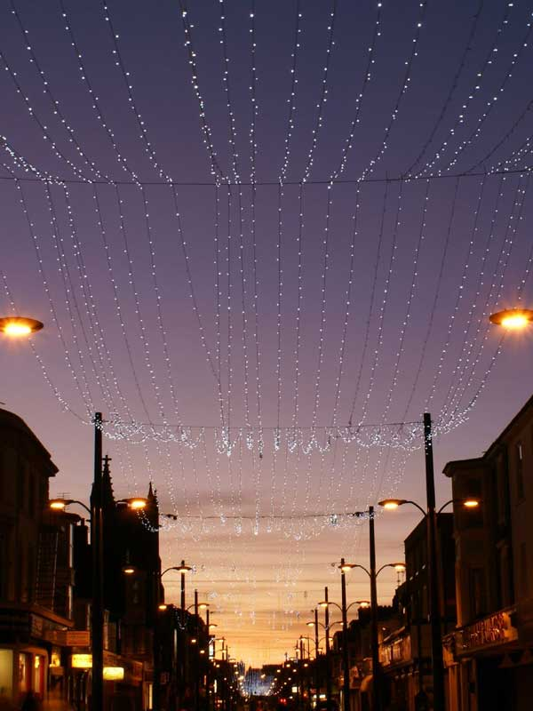 Lighting on Regent Road in Great Yarmouth at Dusk