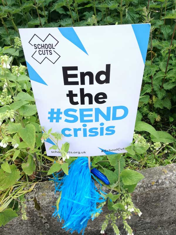 End the SEND Crisis School Cuts Poster